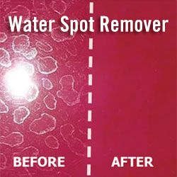 remove water spots from my car