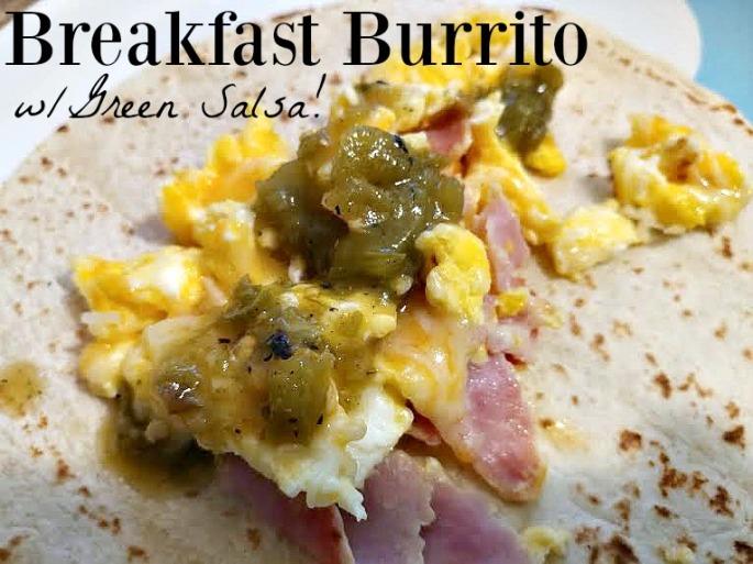 green salsa burrito