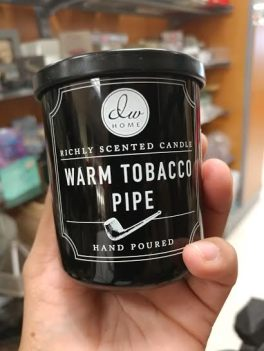 warm tobacco pipe candle