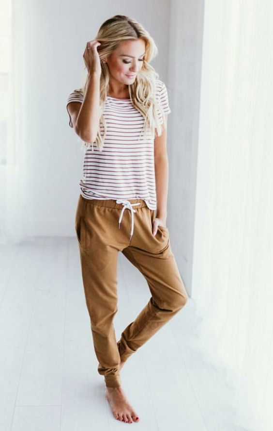 casual comfy spring outfit