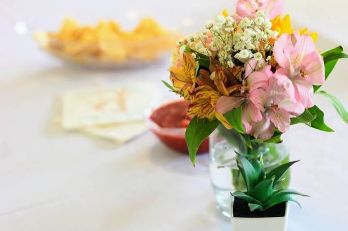 floral party center piece